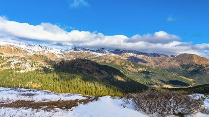 Panoramic View from the Loveland Pass Colorado 4k Timelapse