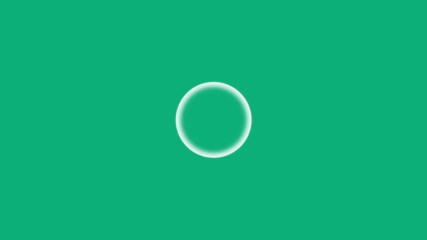 Shaky circle on green background