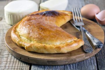 Khachapuri in Gurian. Cheese pie.