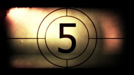 Retro film strip countdown