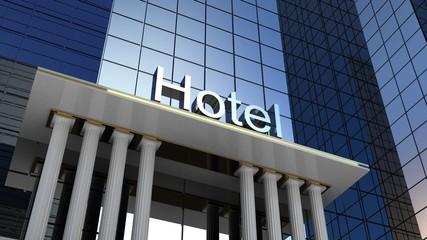Hotel building, 3D images