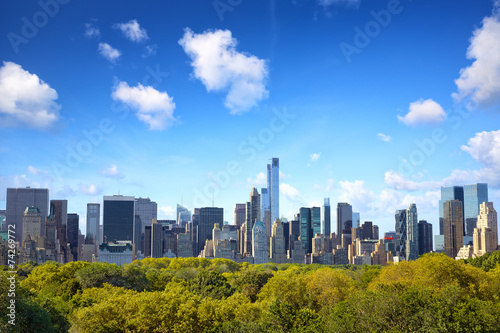 Fotobehang New York City Manhattan skyline with Central Park in New York City
