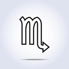 Simplistic scorpio zodiac star sign