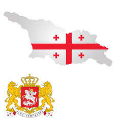 Flag and coat of arms of Georgia