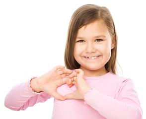 Portrait of a happy little girl