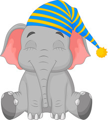 Sleeping Elephant in a cap
