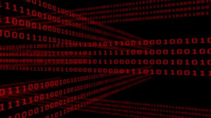 Binary code grid on dark background