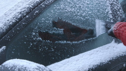Winter Driving - Scraping Ice