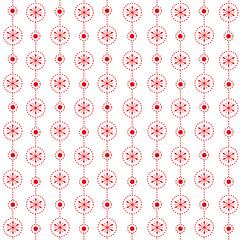 Seamless christmas pattern, snowflakes