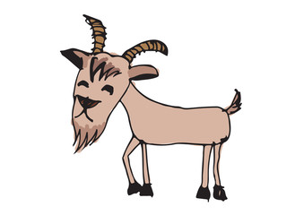 goat cartoon  illustration