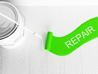 repairs in the room