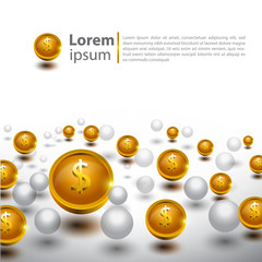 Abstract 3D glossy icon sets in Dollar Currency Concept.EPS 10