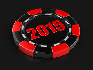 casino chip 2015 (clipping path included)