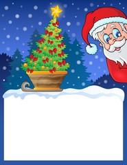 Small frame with Christmas theme 1