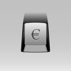 keyboard button with Euro symbol