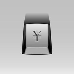 keyboard button with yen symbol