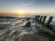 canvas print picture - zachód słońca nad Bałtykiem