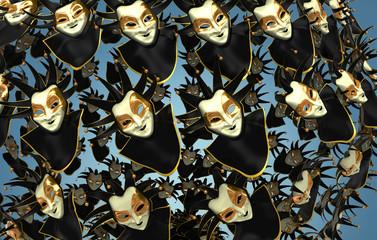 Maschera di Carnevale, Venezia, Scambisti