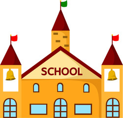 Illustrator of school building