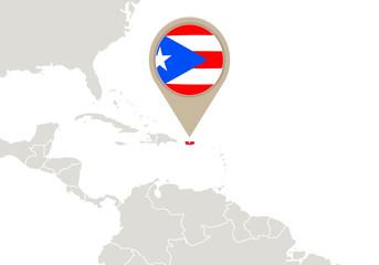 Puerto Rico on World map