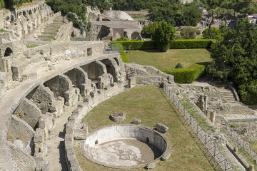 Archaeological site in Baia near Naples