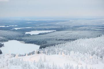 Scenic winter view of Finland