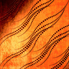 Old grunge background with abstract swirls ornament