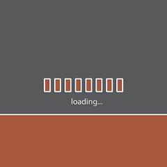 Simple website loading bakground design