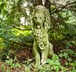 canvas print picture - Lion sculpture in the Garden