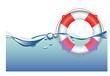 Постер, плакат: Life Ring in water
