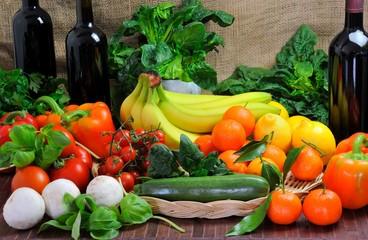 Assortimento di frutta e verdura