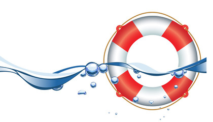 Life Ring in water