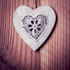 Coeur en bois et alu