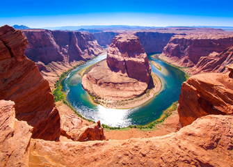 Horseshoe Bend on the Colorado River near Page, Arizona, USA