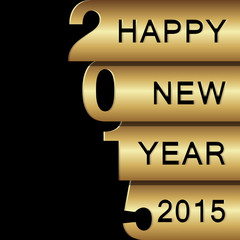 Happy New Year 2015 design greeting card