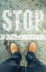 man on a tarmac road