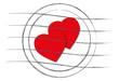 Briefstempel mit Herzen
