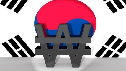 South Korean Won Symbol in Spotlight
