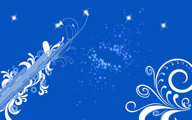 fond bleu brush