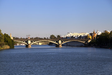 Triana bridge in Seville