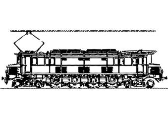 Esquisse d'une locomotive électrique