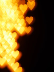 heart candle bokeh