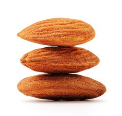 Imbricate almonds with clipping path