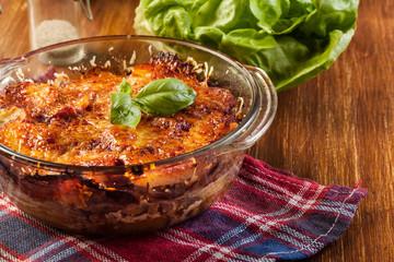 Potato and meat casserole