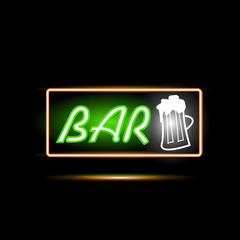 Bar Neon Sign Illustration