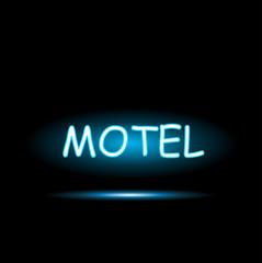 Motel Neon Sign Illustration