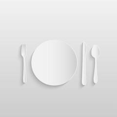 Paper Meal Setting Illustration