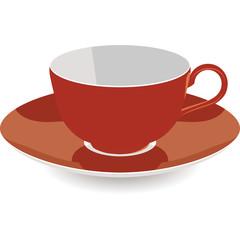 Isolated Tea Cup, Vector