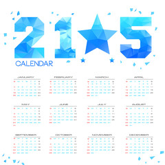 POLY Simple 2015 Calendar