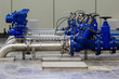 Leinwanddruck Bild - Industrial water pumping